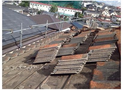 既存屋根材の処理