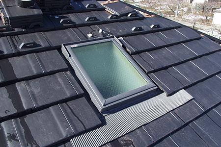 ⑤天窓からの雨水漏れ