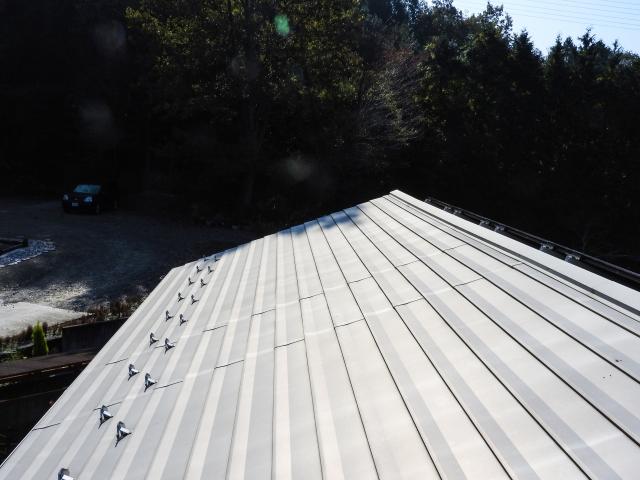 横葺きの屋根